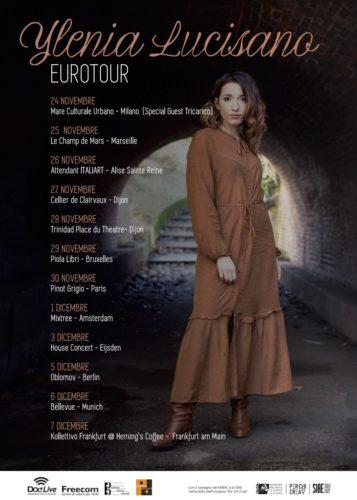 """Parte dal """"Mare Culturale Urbano"""" di Milano l'""""Ylenia Lucisano Eurotour"""", Tricarico special guest della data milanese"""