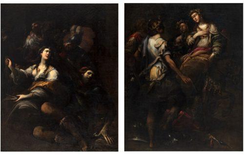 Sansone e Dalila e L'offerta di Abigail a David di Andrea Donducci detto Il Mastelletta, le due opere in mostra alla Pinacoteca Nazionale di Bologna