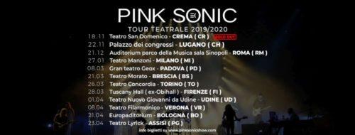European Pink Floyd Experience Tour dei Pink Sonic per la prima volta nei teatri d'Italia
