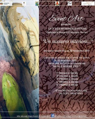 Un sussurro interiore …3^ Estemporanea di pittura in memoria del Maestro Francesco Porcari