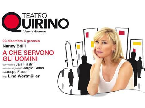 """""""A che servono gli uomini"""" di Jaja Fiastri con Nancy Brilli regia Lina Wertmüller al teatro Quirino di Roma"""