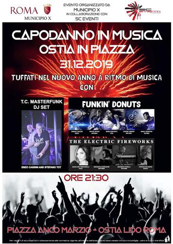 … 3, 2, 1, Capodanno in musica in piazza Anco Marzio a Ostia