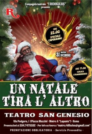 Capodanno per famiglie con i Ridikulus al Teatro San Genesio di Roma