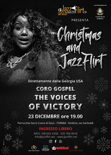 """Christmas and Jazzflirt – """"The Voices of Victory"""" – concerto Gospel a Formia"""