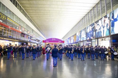 Concerto della Fanfara della Polizia di Stato a Roma Termini