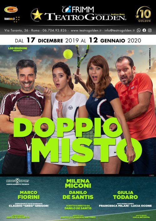 """""""Doppio misto"""" con Michela Miconi, Marco Fiorini, Danilo De Santis e Giulia Todaro al Teatro Golden di Roma"""