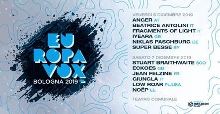 Festival Europavox Bologna 2019 @ Teatro Comunale