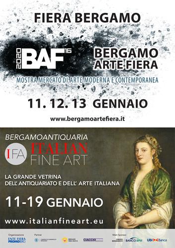 Al via le nuove edizioni di IFA-BAF – L'arte antica, moderna e contemporanea in mostra a Bergamo