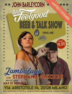 La Jambalaya di Stephanie Ghizzoni al Dr. Feelgood Beer & Talk Show