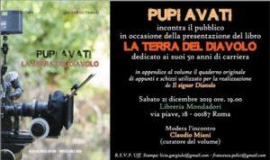 """""""La Terra del Diavolo"""", il libro su Pupi Avati. La presentazione alla Mondadori di Roma"""