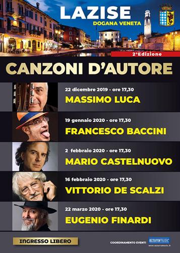 Lazise – Canzoni D'Autore, al via la seconda edizione. Massimo Luca il primo ospite