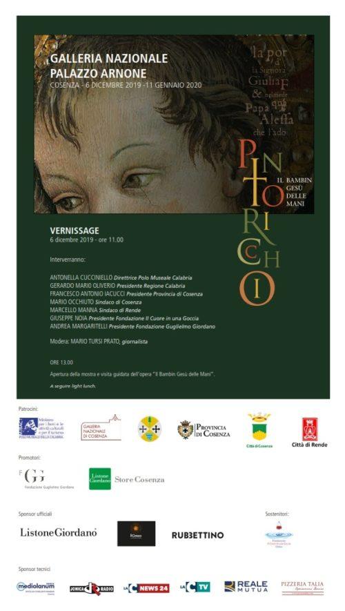 Il Bambin Gesù delle mani, l'opera del Pintoricchio in mostra alla Galleria Nazionale di Cosenza