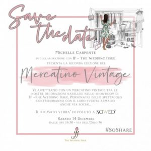 Michelle Carpente inaugura la II edizione del Mercatino di beneficenza al IF – The Wedding Issue di Roma