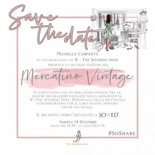 Michelle Carpente inaugura la II edizione del Mercatino di beneficenza al IF – The Wedding Issue di Roma