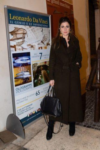 """Passerella di Vip all'evento """"Natale con Leonardo"""" al Palazzo della Cancelleria di Roma"""