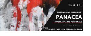 Panacea, la mostra d'arte personale di Massimiliano Ferragina dal 12 dicembre al 7 gennaio 2020 allo Spazio Faro di Roma