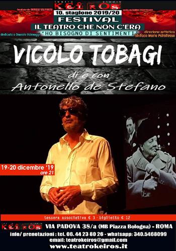 Vicolo Tobagi di e con Antonello de Stefano al Keiros di Roma