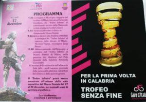 Trofeo senza fine del Giro d'Italia verrà consegnato al Museo Statale di Mileto