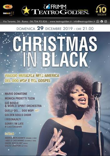 Christmas in Black, il viaggio musicale al teatro Golden di Roma
