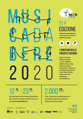 Musica da bere 2020, al via l'undicesima edizione