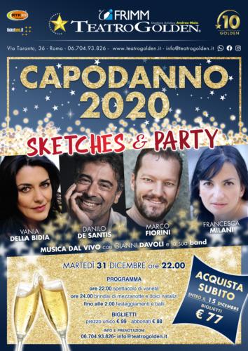 Capodanno 2020 al Teatro Golden di Roma