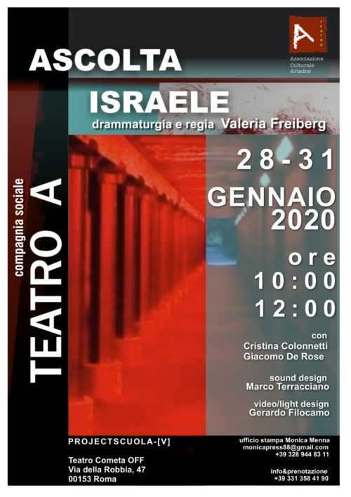 Ascolta, Israele, lo spettacolo in scena al Teatro Cometa Off di Roma