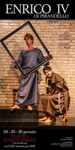 L'Enrico IV di Pirandello con Gianluca Riggi va in scena al Teatro Furio Camillo di Roma