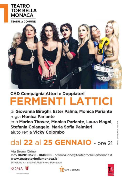 Fermenti lattici, la commedia in arrivo al Teatro Tor Bella Monaca di Roma