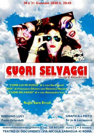 Cuori Selvaggi da un concept di Alessandra Izzo in scena al Teatro di Documenti di Roma