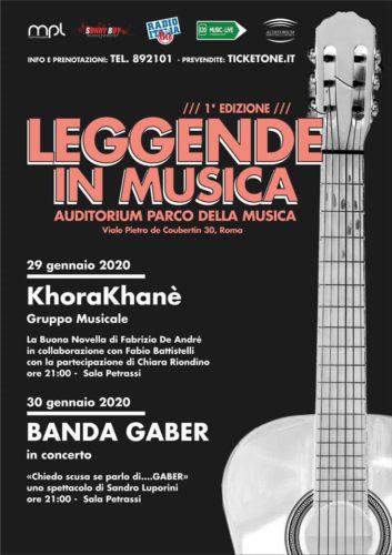 Leggende in Musica, all'Auditorium Parco della Musica di Roma in scena i Khorakhanè e la Banda Gaber
