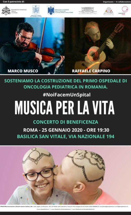 """""""Musica per la vita"""". Concerto di beneficenza"""