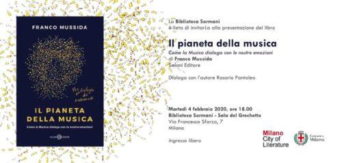 """Franco Mussida presenta il suo ultimo libro """"Il pianeta della musica. Come la Musica dialoga con le nostre emozioni"""""""