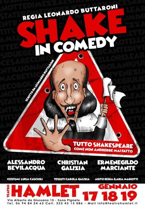 """Tornano i Ragazzi della compagnia dello spettacolo """"Shake in Comedy"""", questa volta al Teatro Hamlet di Roma"""