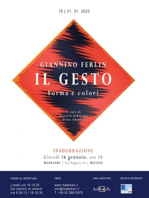 """""""IL GESTO – Forma e colori"""", la mostra personale di opere pittoriche di Giannino Ferlin al MADE4ART di Milano"""