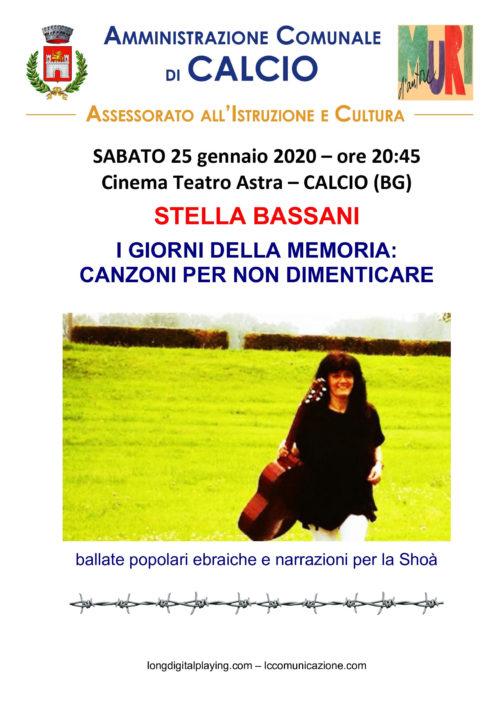 Stella Bassani a Calcio canta per il Giorno della Memoria