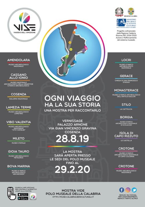 VIDE Viaggio Dell'Emozione la mostra che coinvolge tutte le Sedi ricadenti nel Polo museale della Calabria