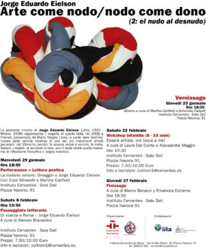 Jorge Eielson: Arte come nodo, nodo come dono II, la mostra alla Sala Dalí dell'Instituto Cervantes di Roma