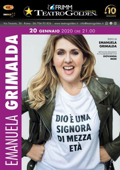 """Emanuela Grimalda in """"Dio è una signora di mezz'età"""" al Teatro Golden di Roma"""