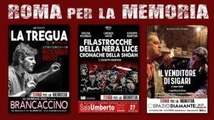 Roma per la memoria a teatro dal 26 gennaio