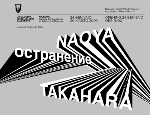 Остранение, l'antologica di Naoya Takahara alla GABA.MC – Galleria dell'Accademia di Belle Arti di Macerata