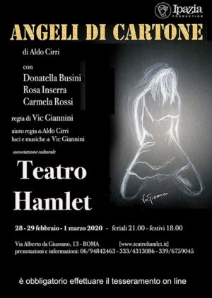 """""""Angeli di cartone"""", da un soggetto di Aldo Cirri in scena al Teatro Hamlet di Roma"""