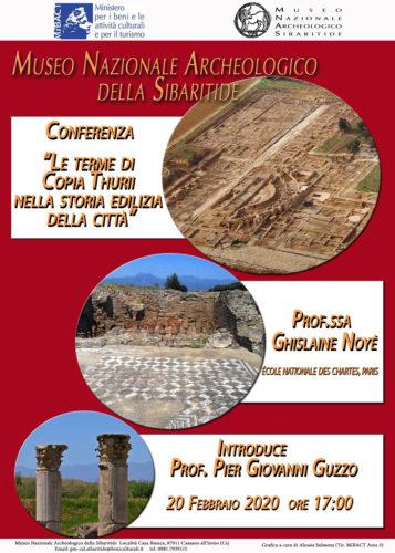 Le terme di Copia Thurii nella storia edilizia della città, la conferenza al Museo Nazionale Archeologico della Sibaritide a Cassano all'Ionio