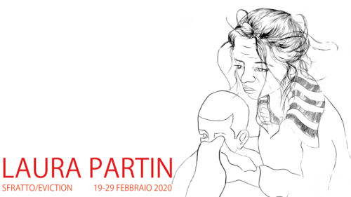 """""""Sfratto"""", la mostra di disegni dell'artista Laura Partin all'Accademia di Romania in Roma"""