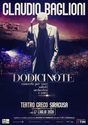 Claudio Baglioni alle Terme di Caracalla di Roma, al Teatro Greco di Siracusa e all'Arena di Verona