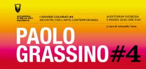 I giovedì colorati #4, incontri con l'arte contemporanea. Appuntamento con Paolo Grassino