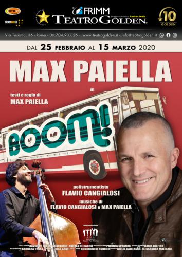Max Paiella sul palco del Teatro Golden di Roma