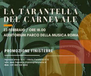 La tarantella del carnevale all'Auditorium Parco della musica di Roma