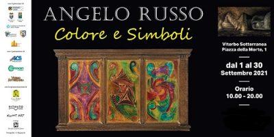 La locandina della mostra di Angelo Russo